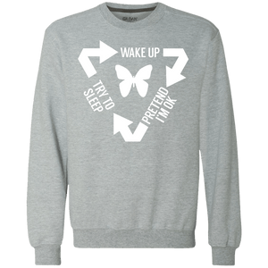 Chronic Illness Cycle Crewneck Sweatshirt 9 oz. - The Unchargeables