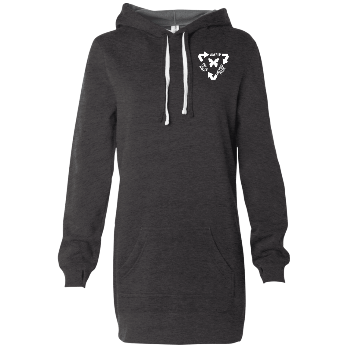 Chronic Illness Cycle Women's Hooded Pullover Dress - The Unchargeables