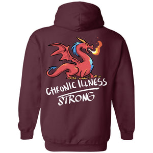 Chronic Illness Strong Dragon Pullover Hoodie 8 oz.