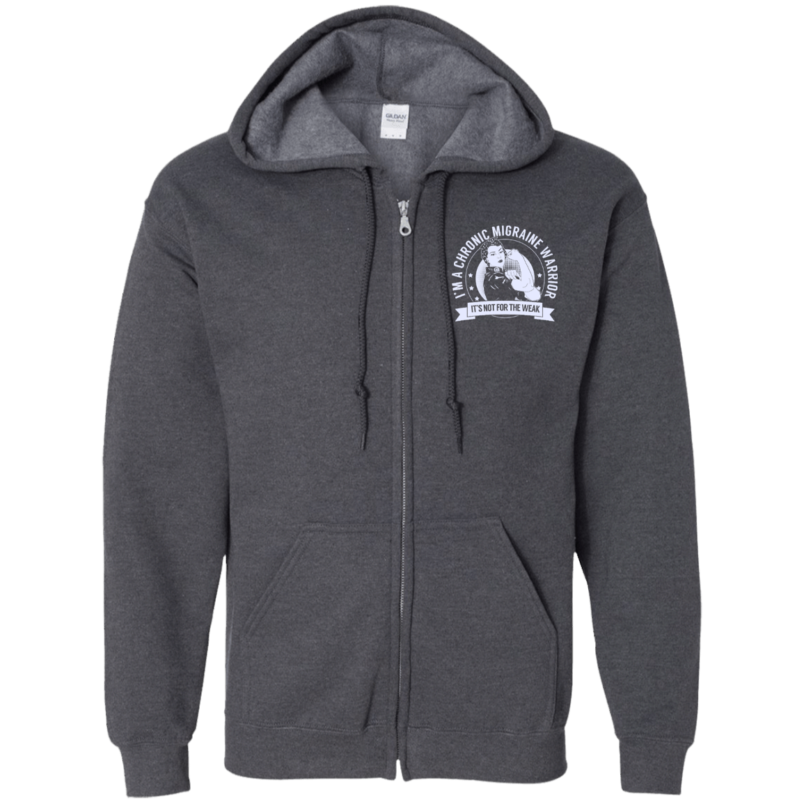 Chronic Migraine Warrior NFTW Zip Up Hooded Sweatshirt - The Unchargeables