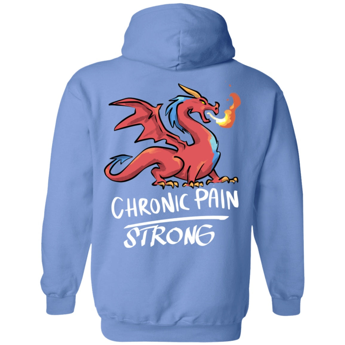 Chronic Pain Strong Dragon Pullover Hoodie 8 oz. - The Unchargeables