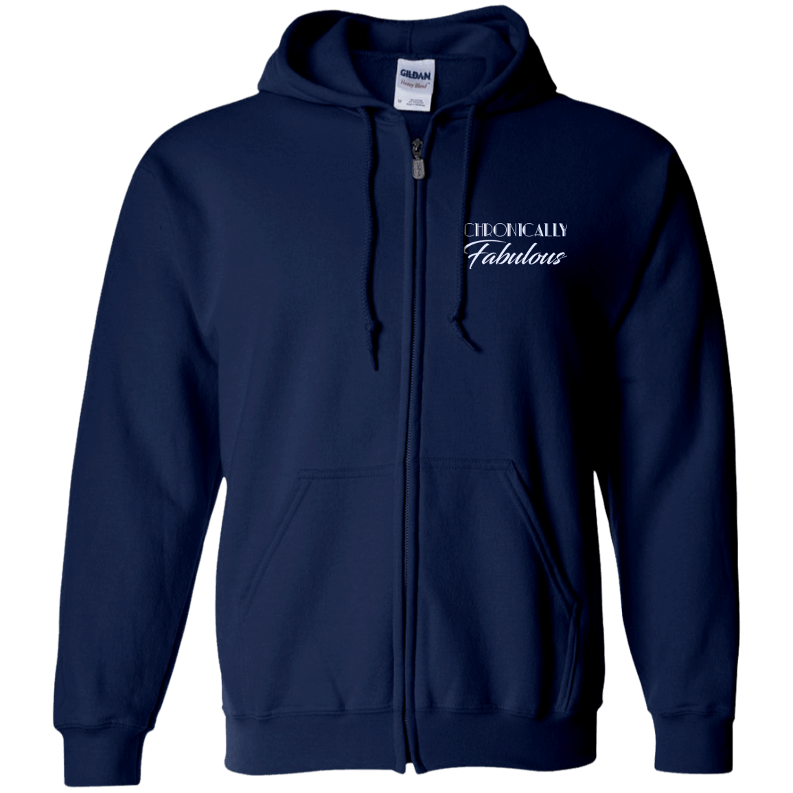 Chronically Fabulous Zip Up Hooded Sweatshirt - The Unchargeables
