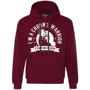 Crohn's Warrior Not For The Weak Pullover Hoodie - The Unchargeables