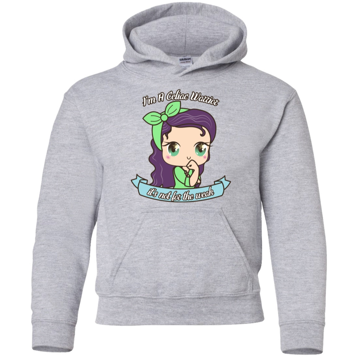 Cute Celiac Warrior Youth Pullover Hoodie - The Unchargeables