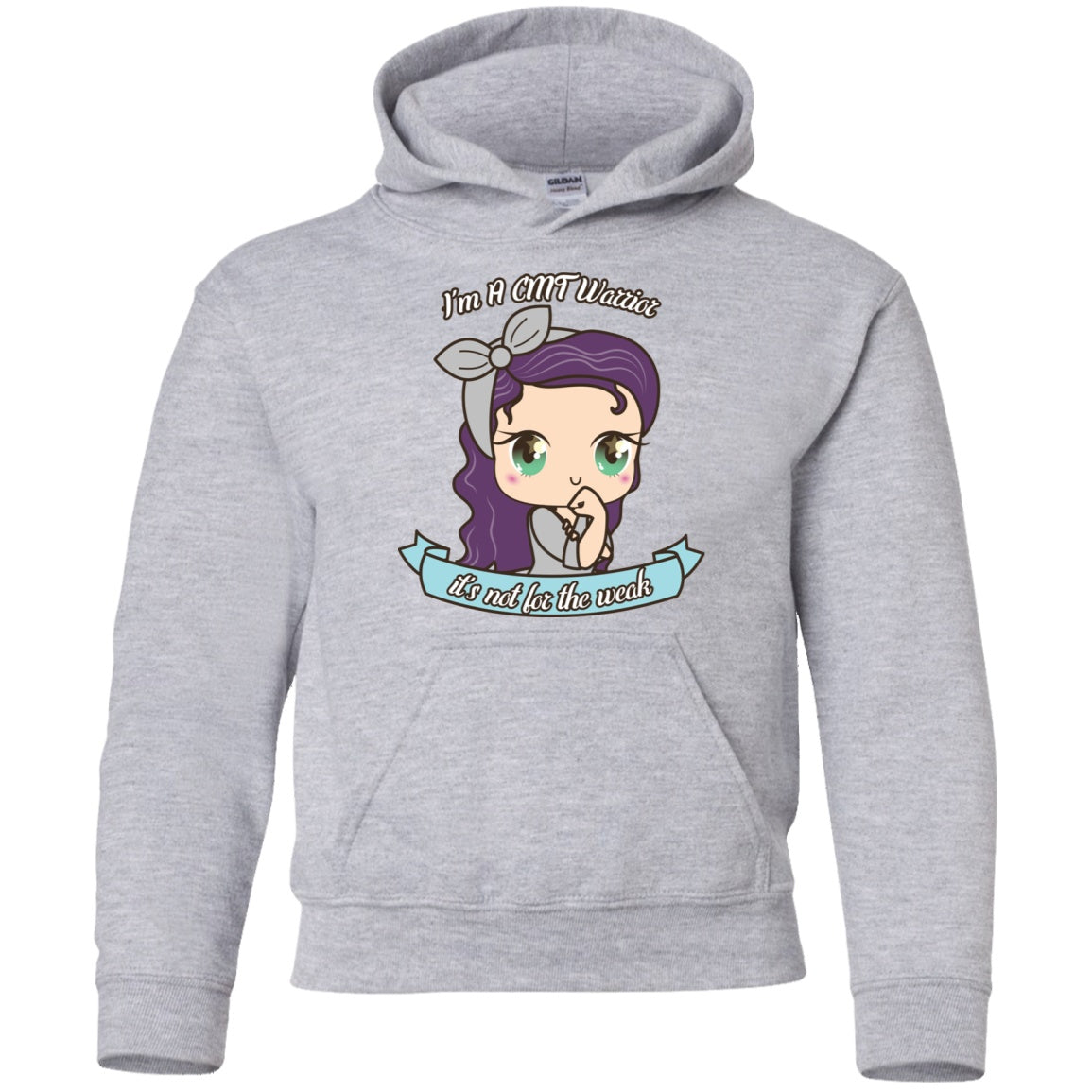 Cute CMT Warrior Youth Pullover Hoodie - The Unchargeables