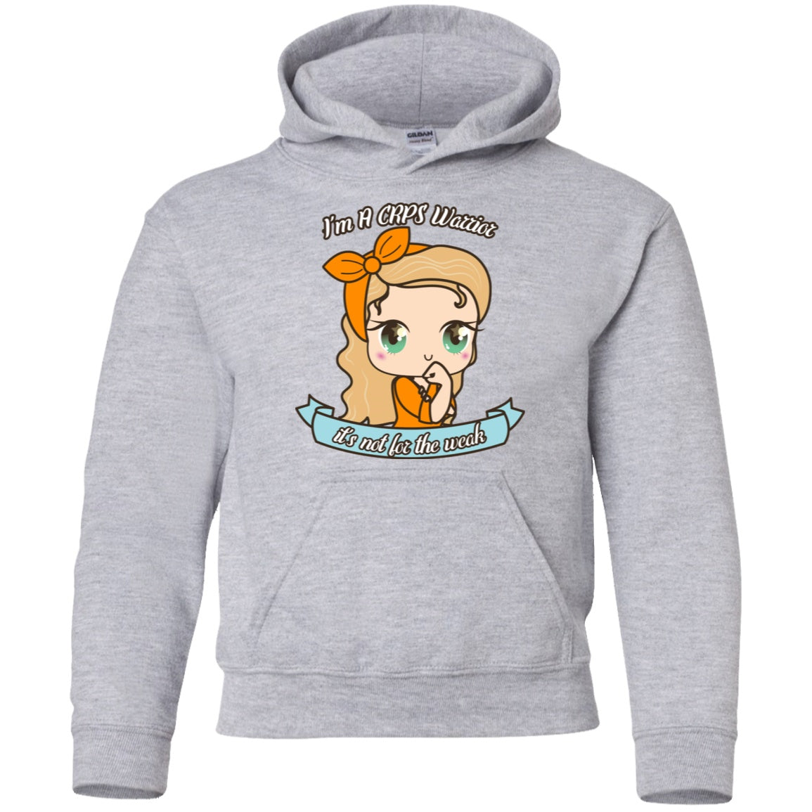 Cute CRPS Warrior Youth Pullover Hoodie - The Unchargeables