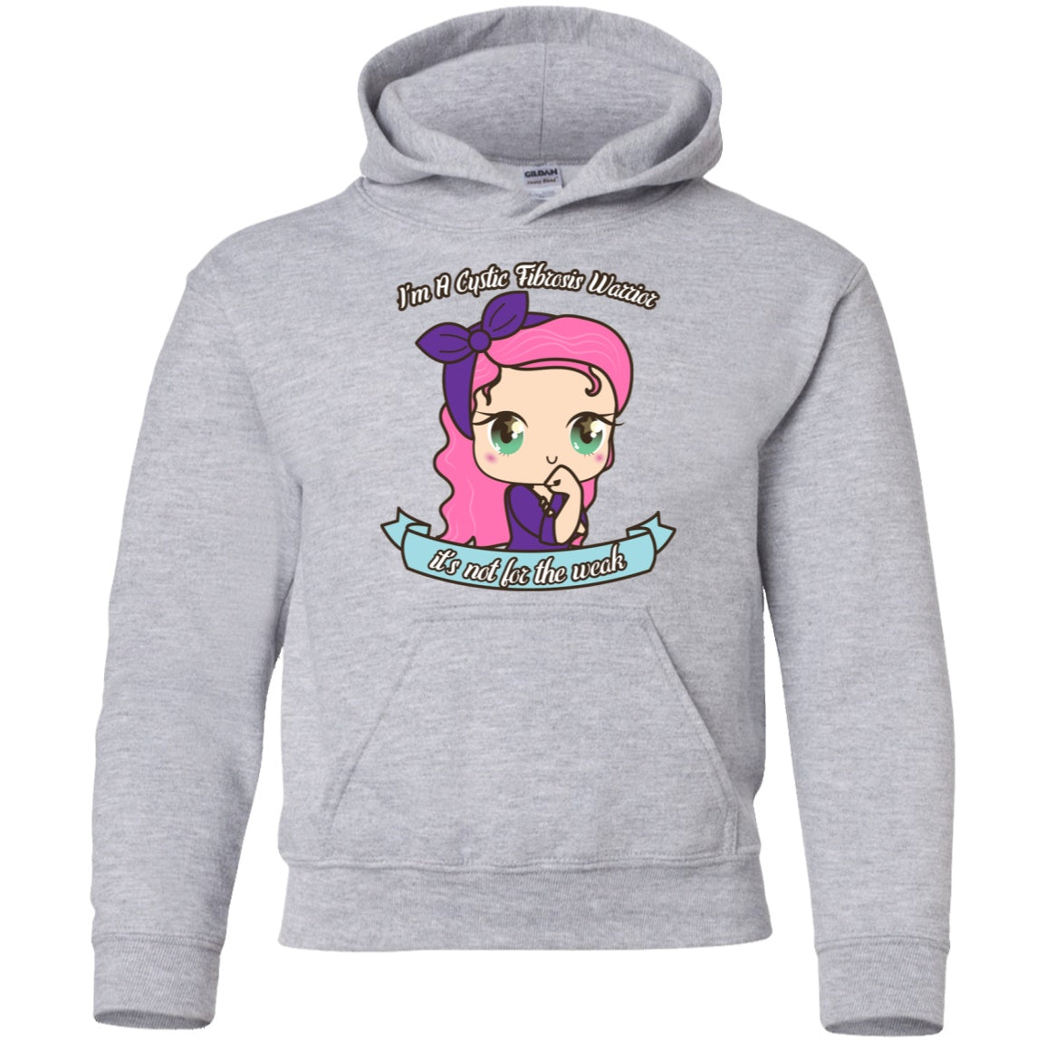 Cute Cystic Fibrosis Warrior Youth Pullover Hoodie