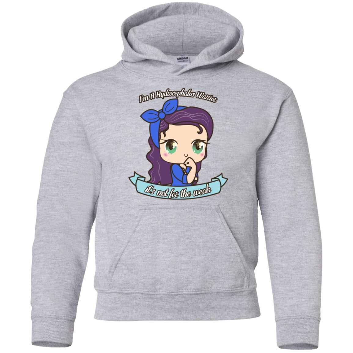 Cute Hydrocephalus Warrior Youth Pullover Hoodie - The Unchargeables