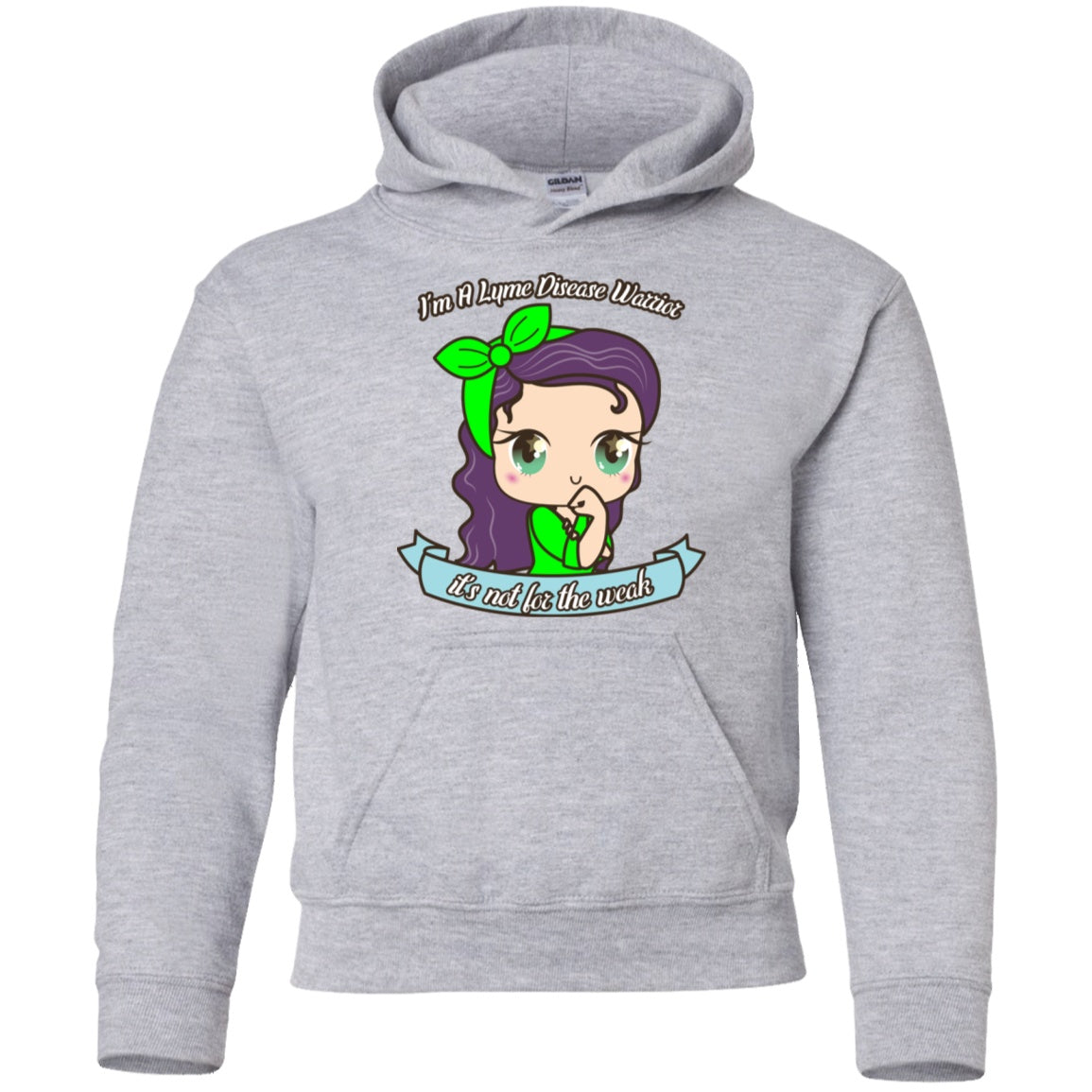 Cute Lyme Disease Warrior Youth Pullover Hoodie - The Unchargeables