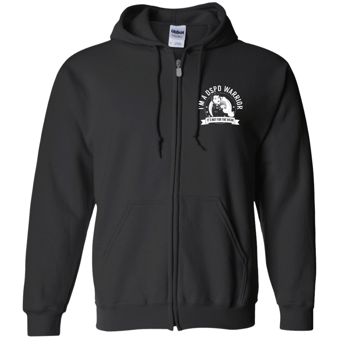Delayed Sleep Phase Disorder - DSPD Warrior NFTW Zip Up Hooded Sweatshirt - The Unchargeables