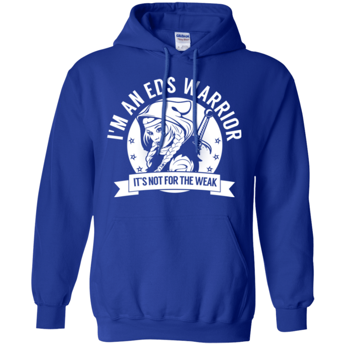 Sweatshirts - Ehlers Danlos Syndrome - EDS Warrior Hooded Pullover Hoodie 8 Oz.