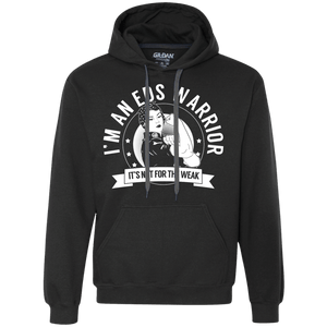 Ehlers Danlos Syndrome - EDS Warrior Not for the Weak Pullover Hoodie 9 oz. - The Unchargeables