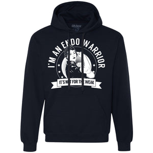 Endometriosis - Endo Warrior Not For The Weak Pullover Hoodie - The Unchargeables