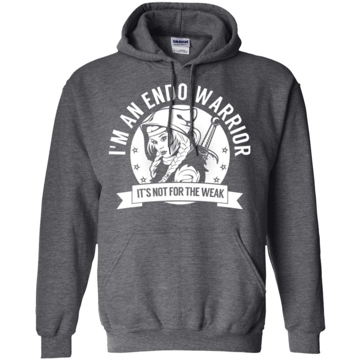 Endometriosis - Endo Warrior Hooded Pullover Hoodie 8 oz. - The Unchargeables
