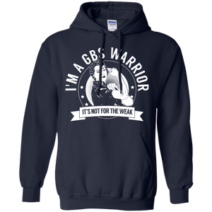 Guillain-Barré Syndrome - GBS Warrior Not For The Weak Pullover Hoodie 8 oz - The Unchargeables