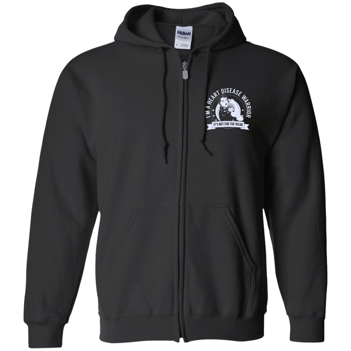 Heart Disease Warrior NFTW Zip Up Hooded Sweatshirt - The Unchargeables
