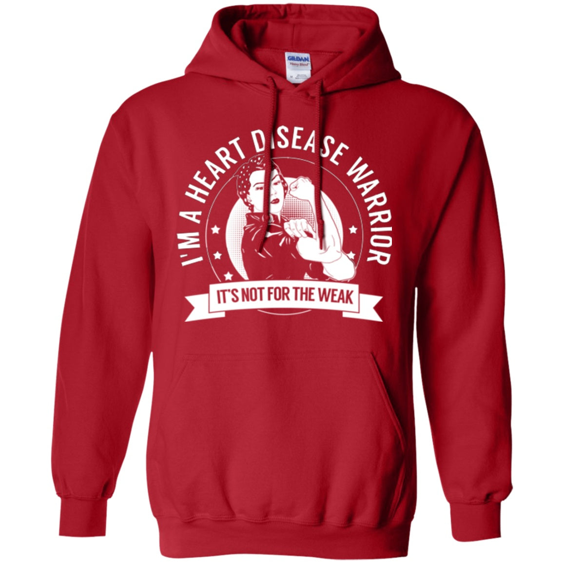 Heart Disease Warrior Not For The Weak Pullover Hoodie 8 oz. - The Unchargeables