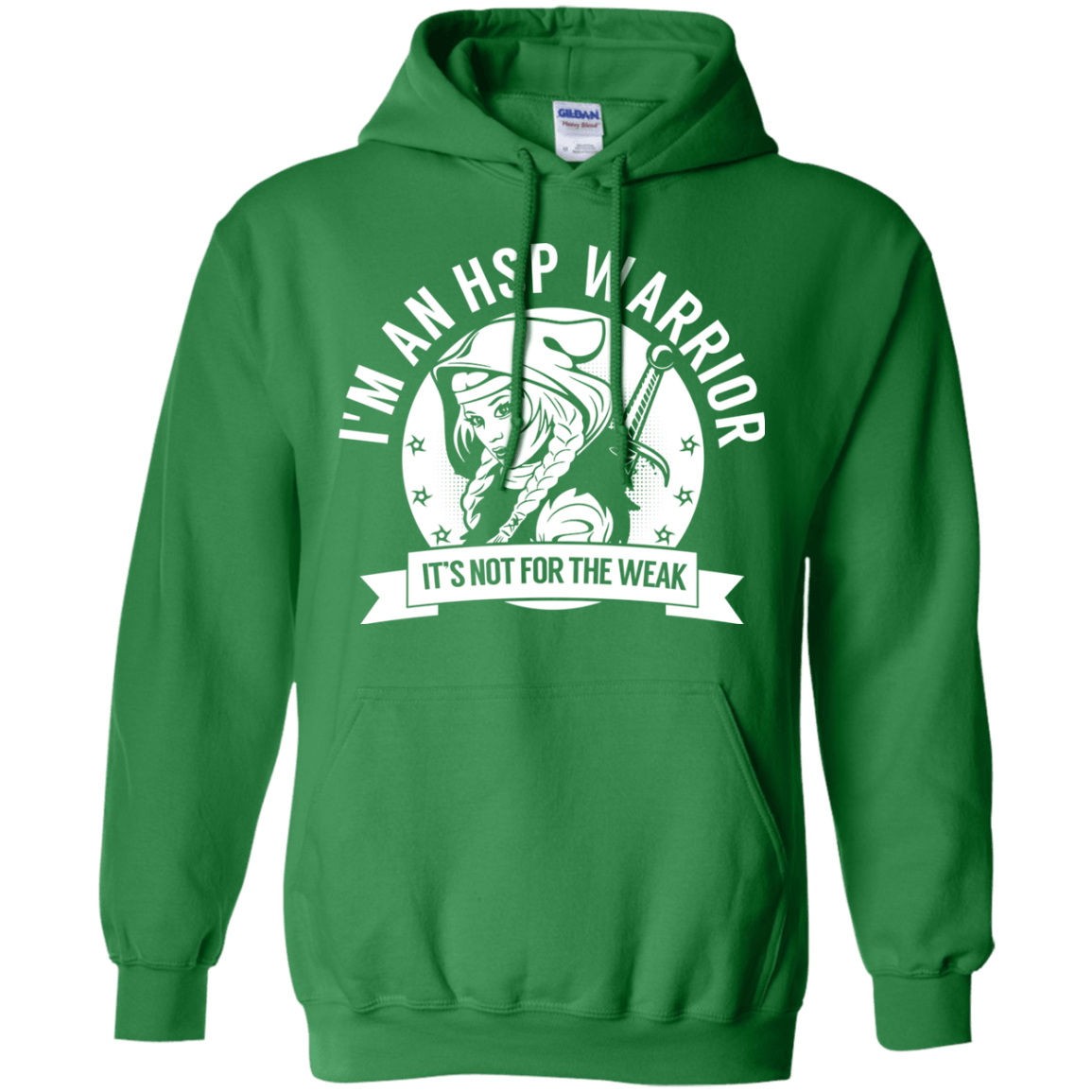 Hereditary Spastic Paraparesis - HSP Warrior Hooded Pullover Hoodie 8 oz. - The Unchargeables