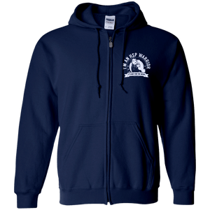 Hereditary Spastic Paraparesis - HSP Warrior Not For The Weak Zip Up Hooded Sweatshirt - The Unchargeables