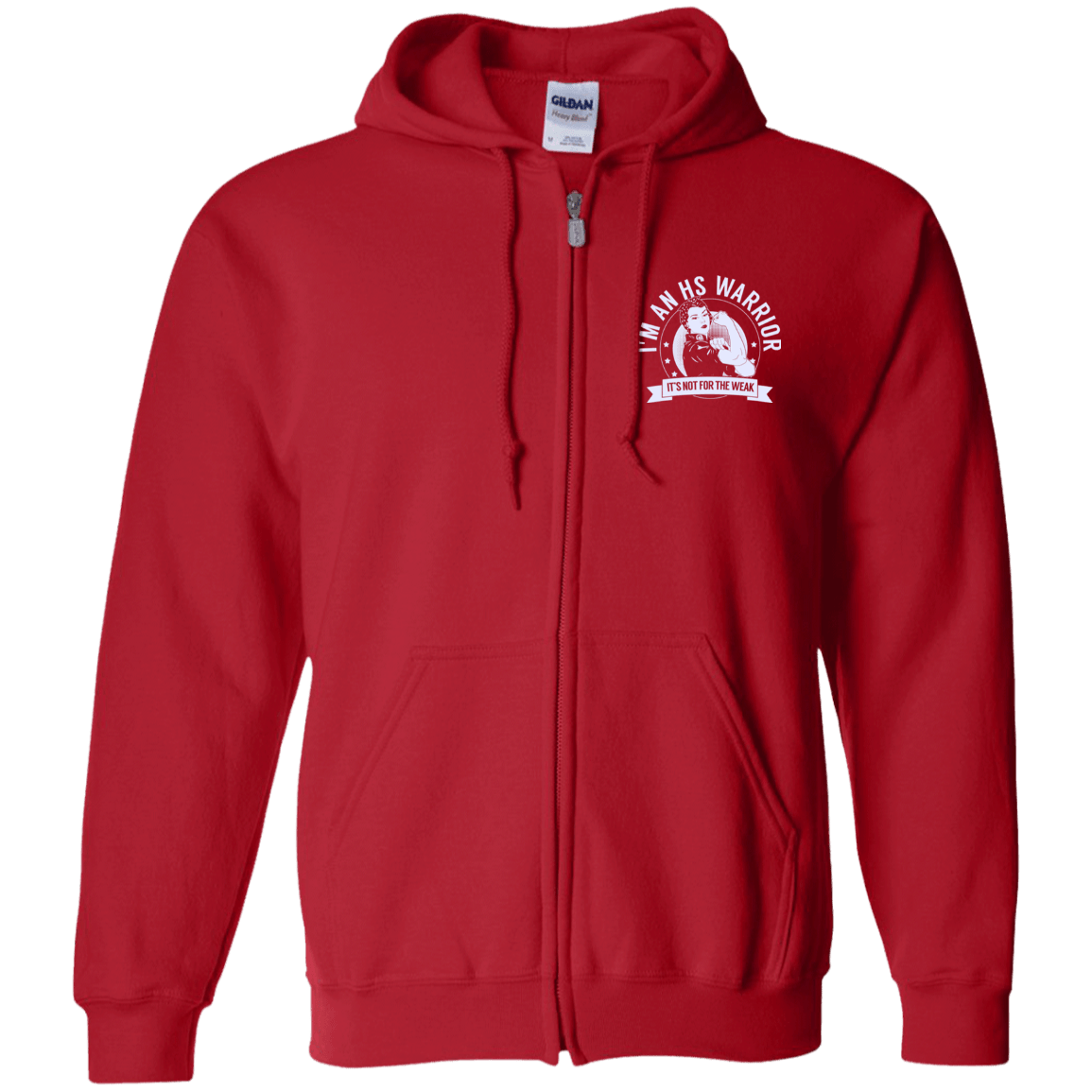 Sweatshirts - Hidradenitis Suppurativa - HS Warrior NFTW Zip Up Hooded Sweatshirt
