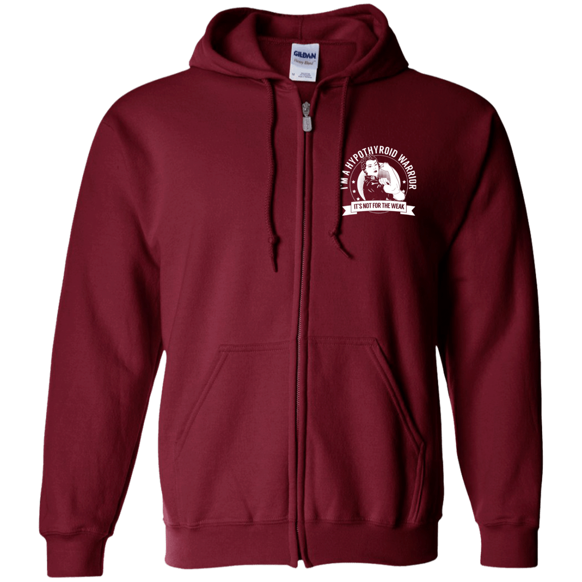 Sweatshirts - Hypothyroid Warrior NFTW Zip Up Hooded Sweatshirt
