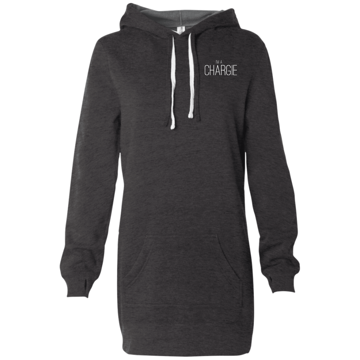 I'm A Chargie Women's Hooded Pullover Dress - The Unchargeables