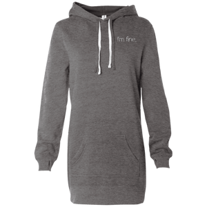 I'm Fine Women's Hooded Pullover Dress - The Unchargeables