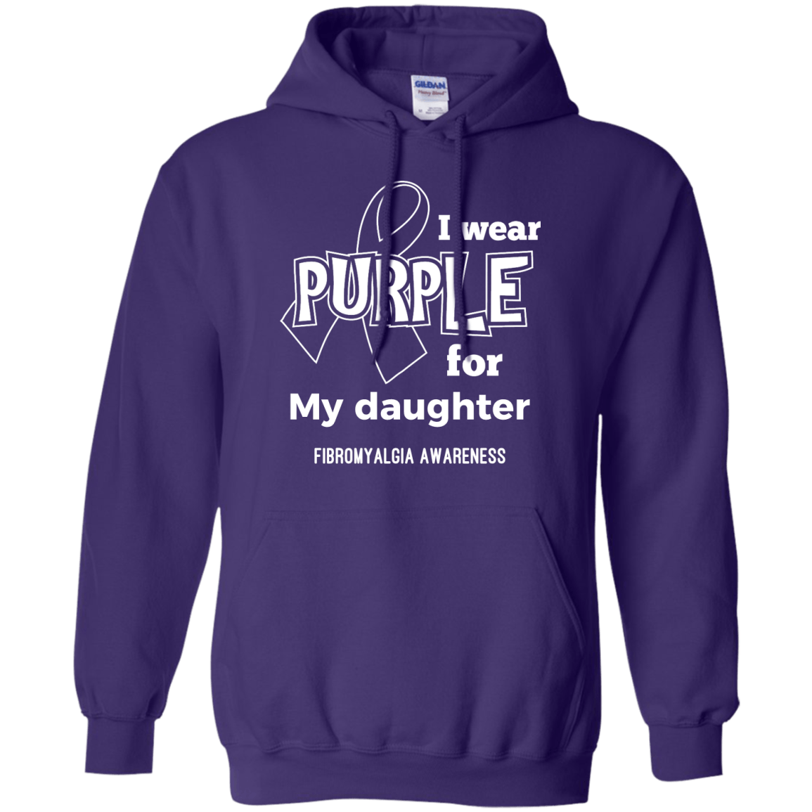 I Wear Purple For Pullover Hoodie 8 oz - The Unchargeables