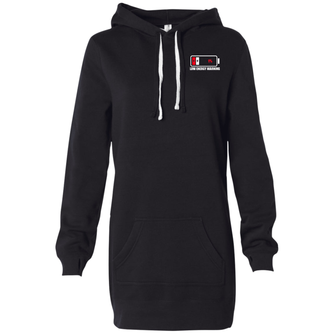 Low Energy Warning Women's Hooded Pullover Dress - The Unchargeables
