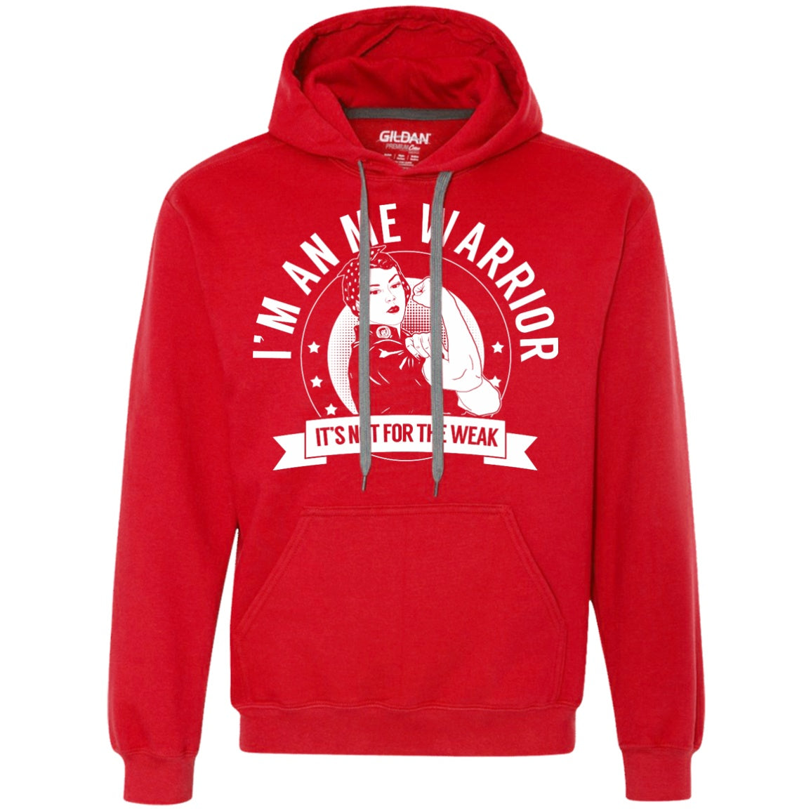 Myalgic Encephalomyelitis - ME Warrior Not for the Weak Pullover Hoodie - The Unchargeables