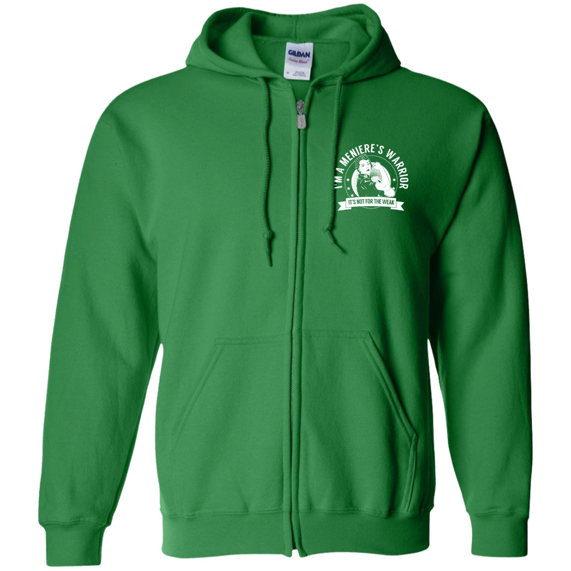 Meniere's Disease - Meniere's Warrior NFTW Zip Up Hooded Sweatshirt - The Unchargeables