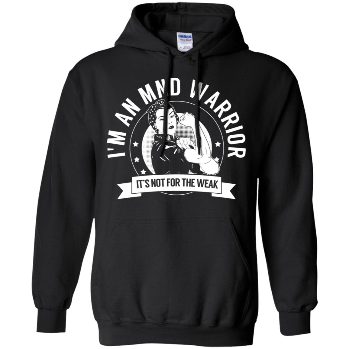 Motor Neurone Disease - MND Warrior NFTW Pullover Hoodie 8 oz. - The Unchargeables