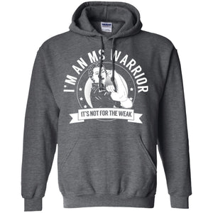 MS Warrior Not For The Weak Pullover Hoodie 8 oz. - The Unchargeables