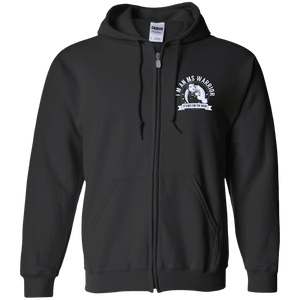 Multiple Sclerosis - MS Warrior NFTW Zip Up Hooded Sweatshirt - The Unchargeables
