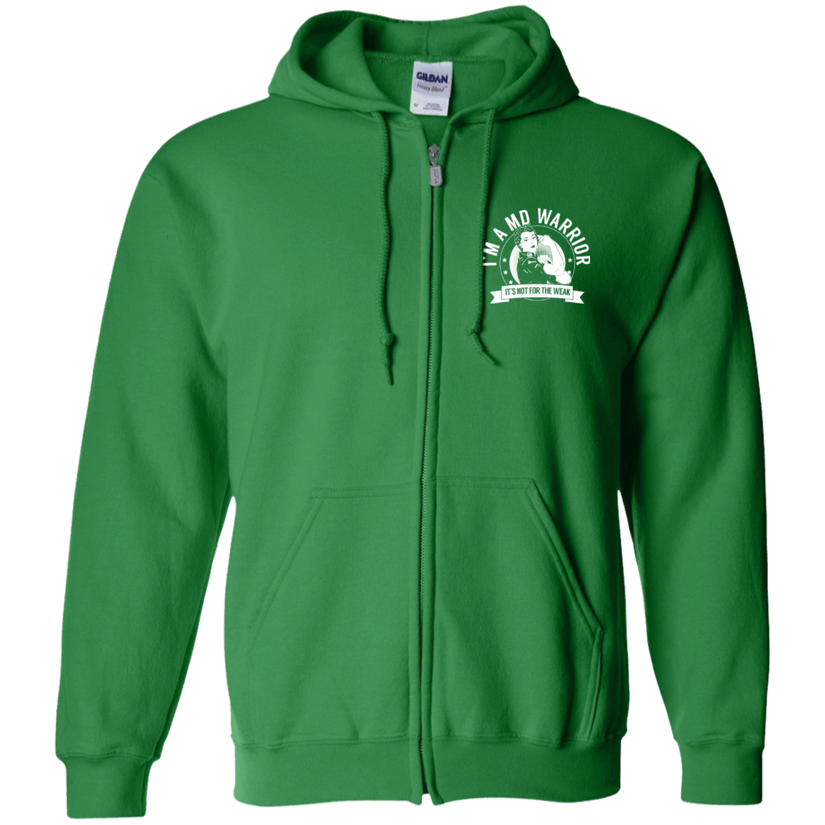 Muscular Dystrophy - MD Warrior NFTW Zip Up Hooded Sweatshirt - The Unchargeables