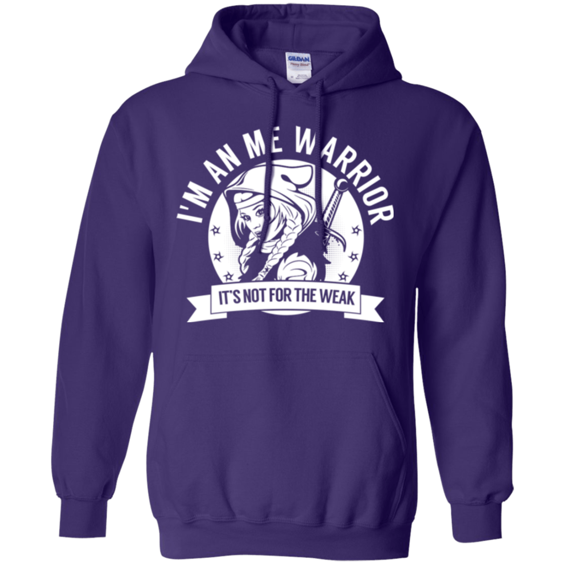 Myalgic Encephalomyelitis - ME Warrior Hooded Pullover Hoodie 8 oz. - The Unchargeables