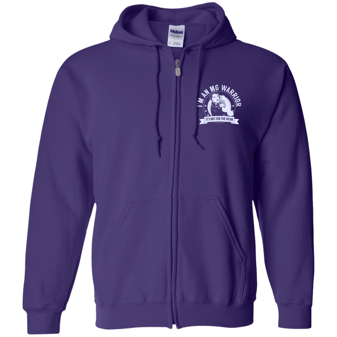 Myasthenia Gravis - MG Warrior NFTW Zip Up Hooded Sweatshirt - The Unchargeables