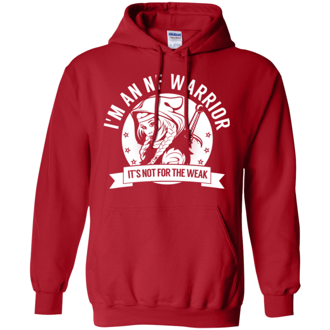 Neurofibromatosis - NF Warrior Hooded Pullover Hoodie 8 oz. - The Unchargeables