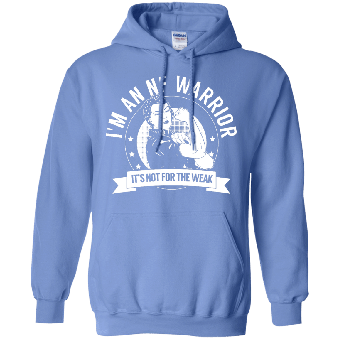 Sweatshirts - Neurofibromatosis - NF Warrior Not For The Weak Pullover Hoodie 8 Oz