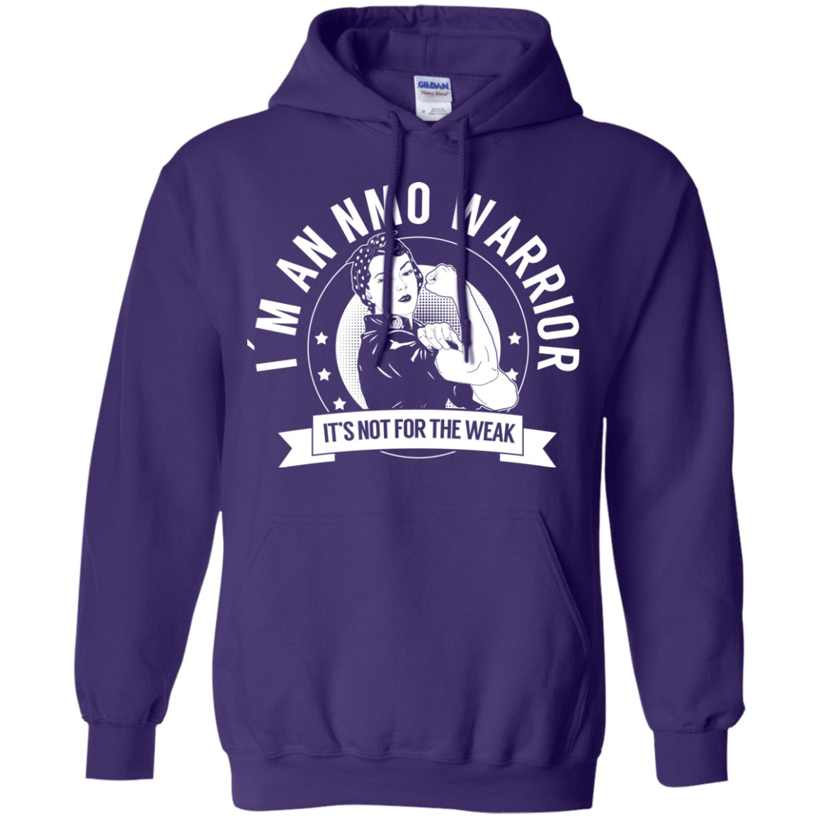 Neuromyelitis Optica - NMO Warrior NFTW Pullover Hoodie 8 oz. - The Unchargeables