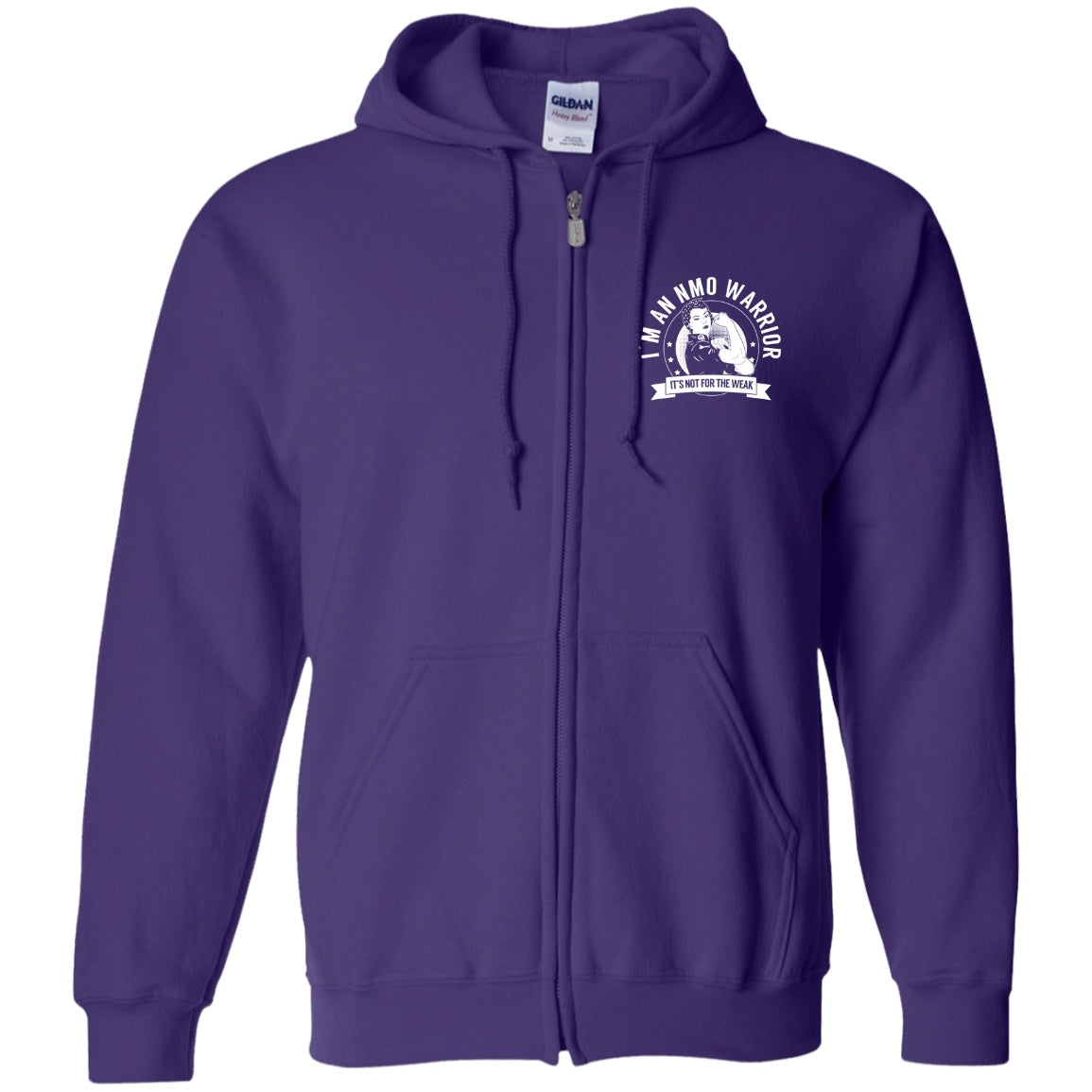 Neuromyelitis Optica - NMO Warrior NFTW  Zip Up Hooded Sweatshirt - The Unchargeables