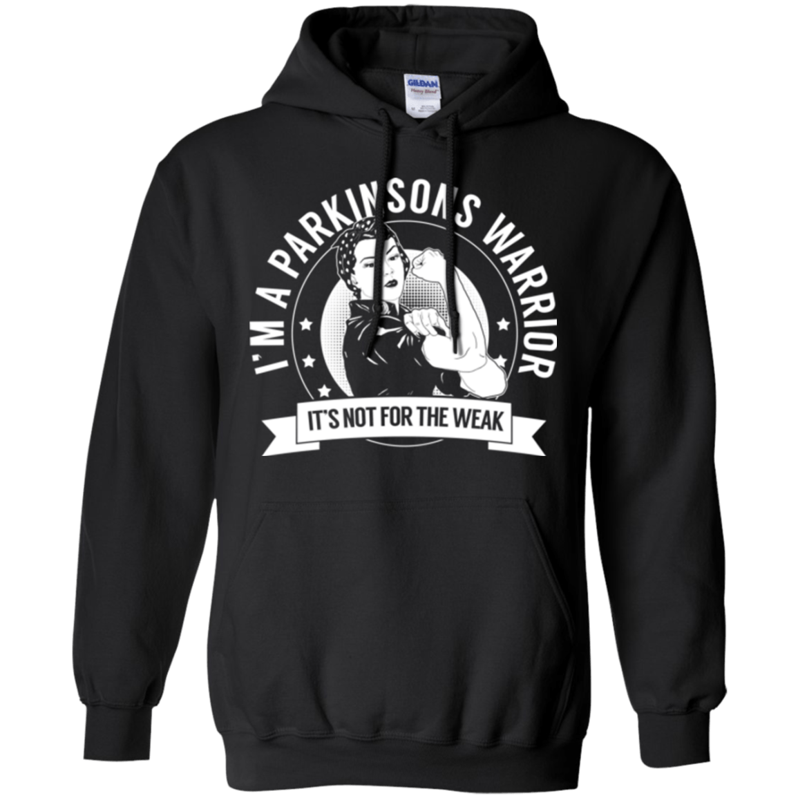 Parkinson's Warrior Not For The Weak Pullover Hoodie 8 oz. - The Unchargeables