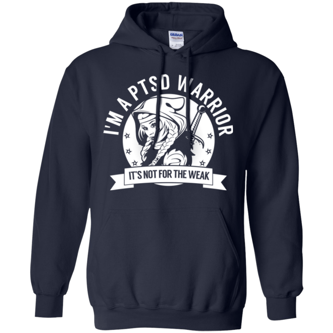 Sweatshirts - Post Traumatic Stress Disorder - PTSD Warrior Hooded Pullover Hoodie 8 Oz.