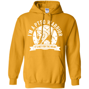 Post Traumatic Stress Disorder - PTSD Warrior Hooded Pullover Hoodie 8 oz. - The Unchargeables