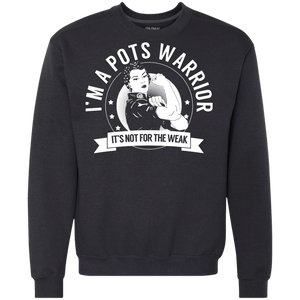 Sweatshirts - Postural Orthostatic Tachycardia Syndrome - POTS Warrior Not For The Weak Crewneck Sweatshirt