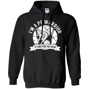 Pulmonary Fibrosis - PF Warrior Hooded Pullover Hoodie 8 oz. - The Unchargeables