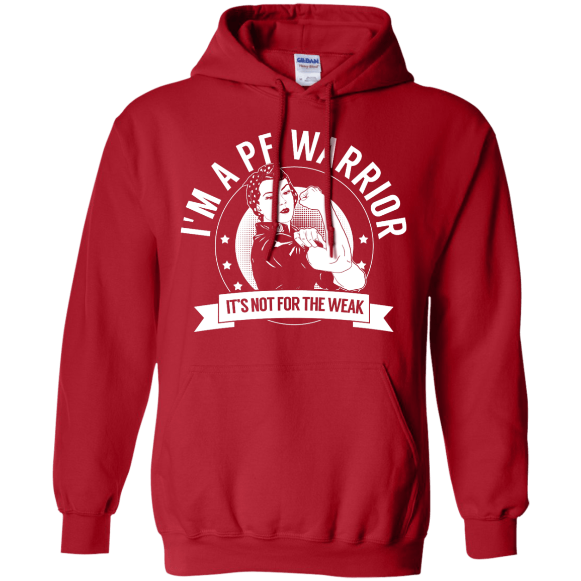 Sweatshirts - Pulmonary Fibrosis - PF Warrior Not For The Weak Pullover Hoodie 8 Oz