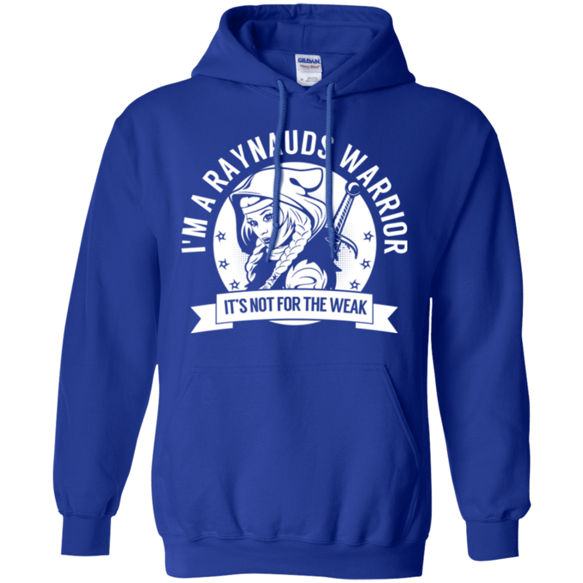 Raynaud's Disease - Raynauds Warrior Hooded Pullover Hoodie 8 oz. - The Unchargeables
