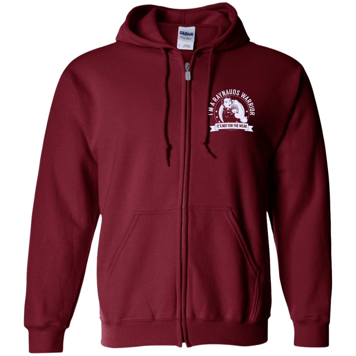 Raynaud's Disease - Raynauds Warrior NFTW Zip Up Hooded Sweatshirt - The Unchargeables