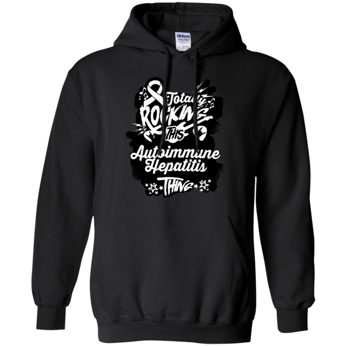 Rocking Autoimmune Hepatitis Pullover Hoodie 8 oz. - The Unchargeables